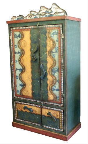 A huge hand made armoire