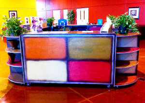 A custom display unit for Cleburne Bible Church